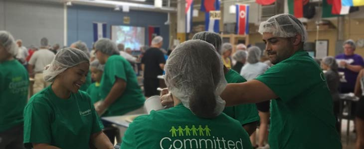 December 12: Illinois and Wisconsin Teams Volunteer with Feed My Starving Children