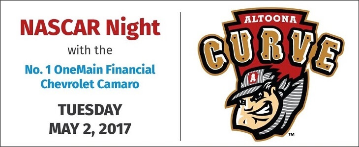 May 2: Altoona Curve NASCAR Night in Altoona, PA