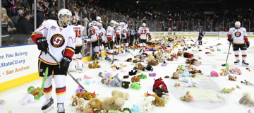 January 4-20: Stuffed Animal Drive for Stockton Heat Teddy Bear Toss in Stockton, CA